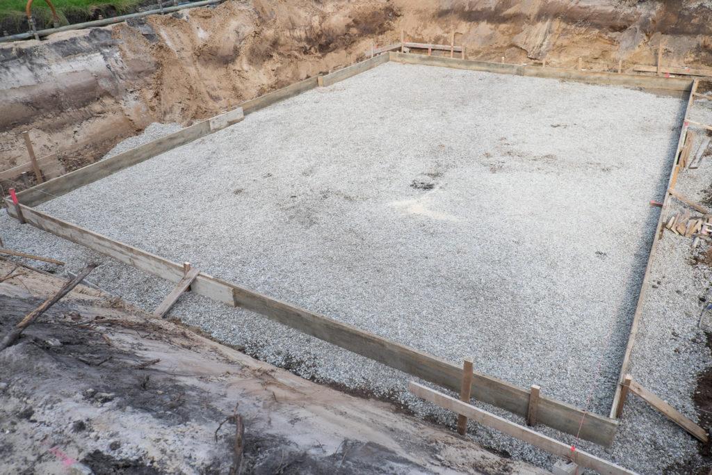 Hier wird in den nächsten Tagen die Bodenplatte gegossen