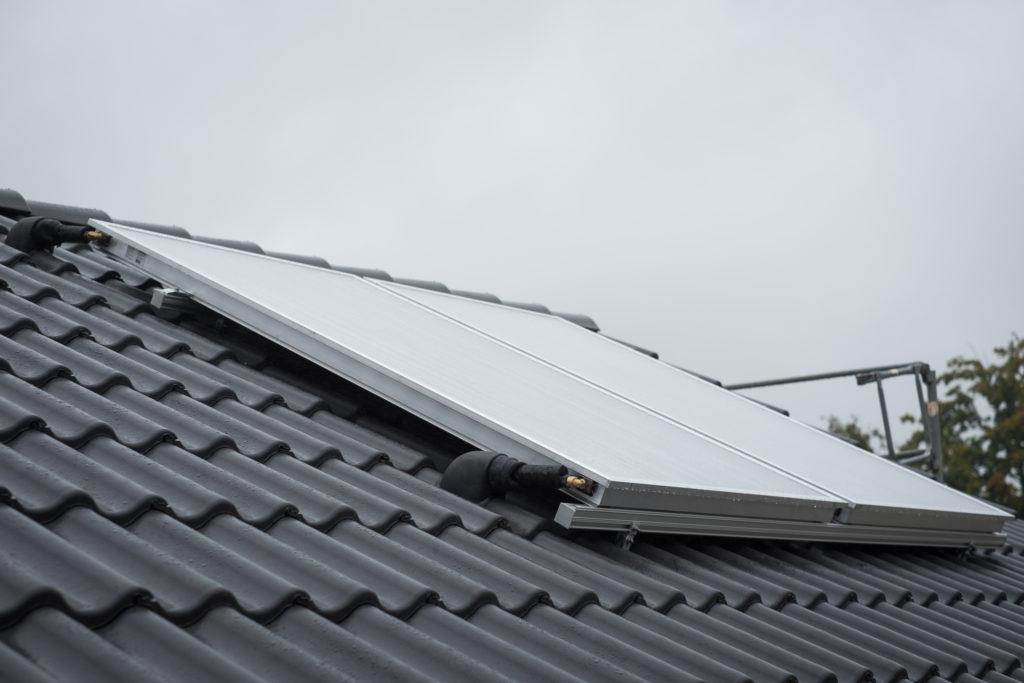 Die Solaranlage ist inzwischen auch montiert...