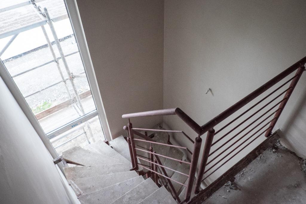 Das Treppenhaus ist jetzt schön hell