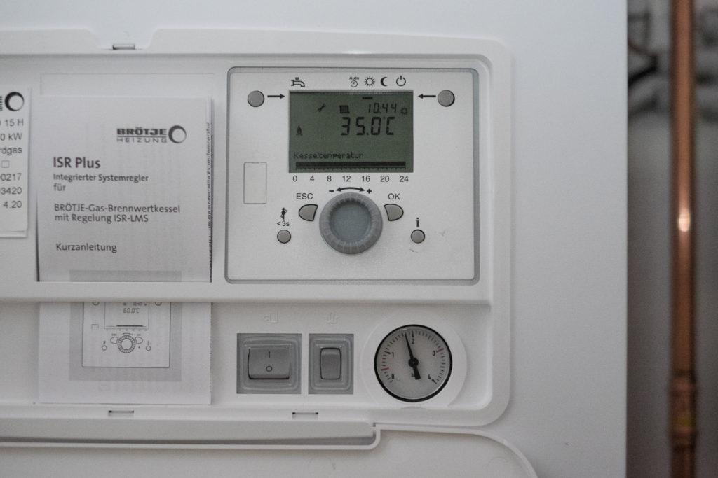 Die Heizung läut schon mit 35°C Vorlauftemperatur