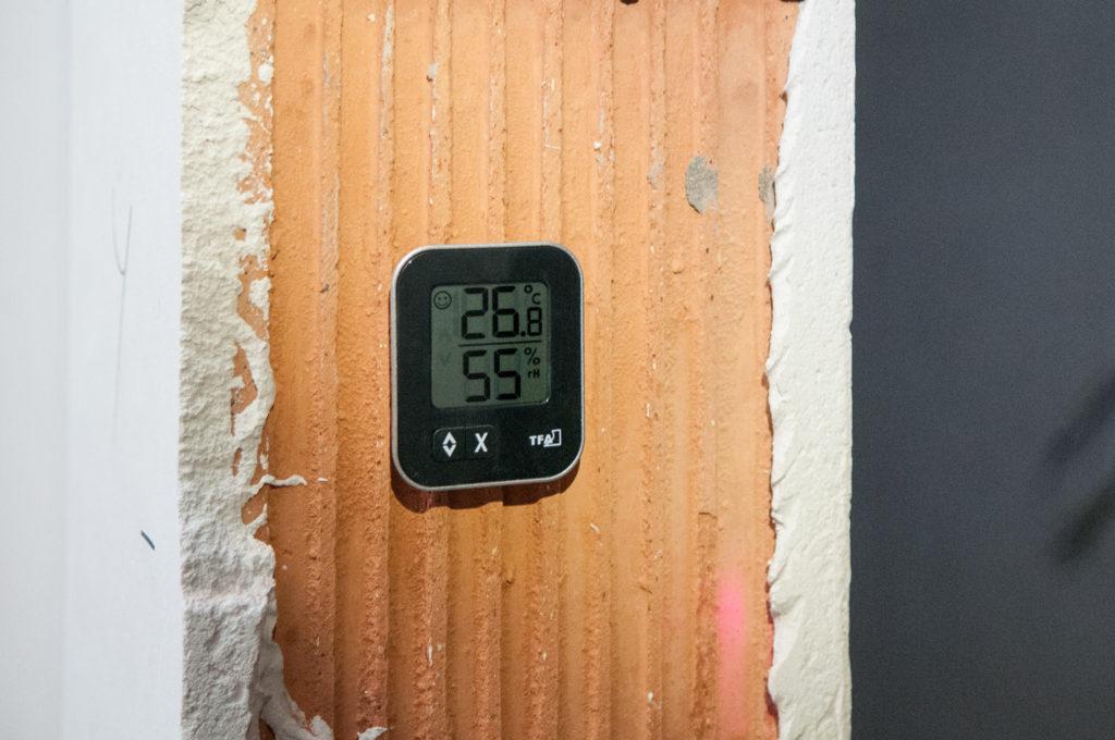26,8°C und 55% Luftfeuchtigkeit