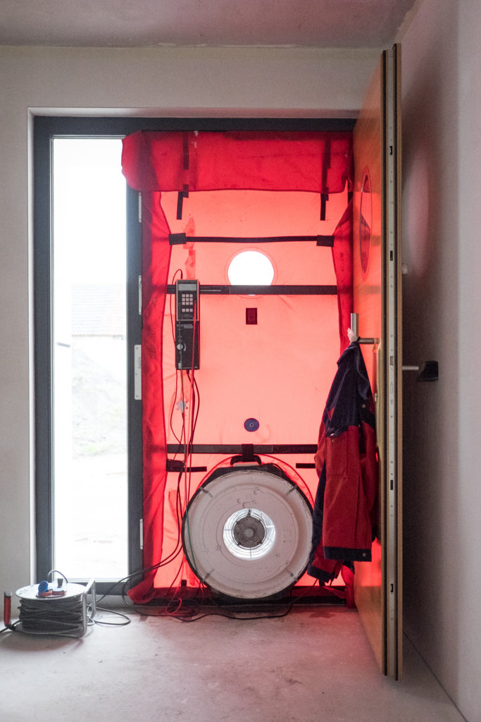 Apparatur für den Blower Door Test...