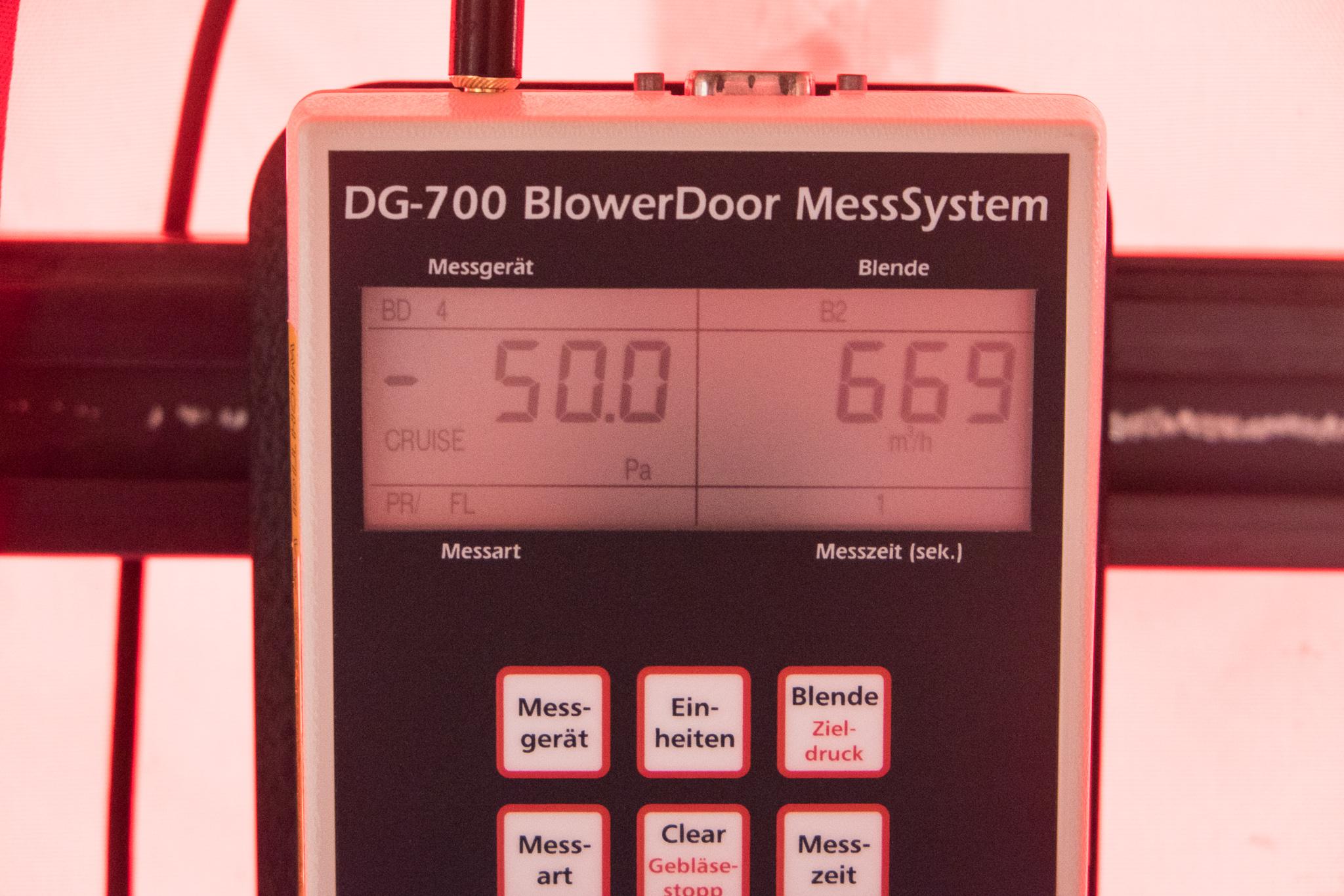 Blower door test u ein haus für den zwerg