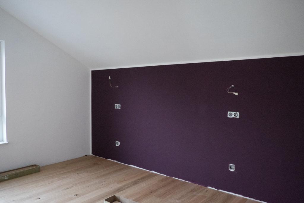 Violett im Schlafzimmer
