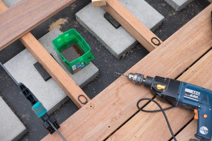 Der Spax Terrassenbohrer braucht regelmäßige Kühlung