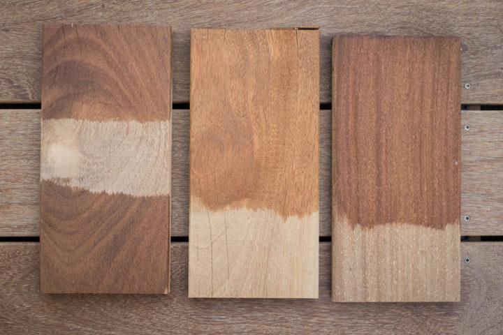 Natural Farben Öl (links) vs. einzA