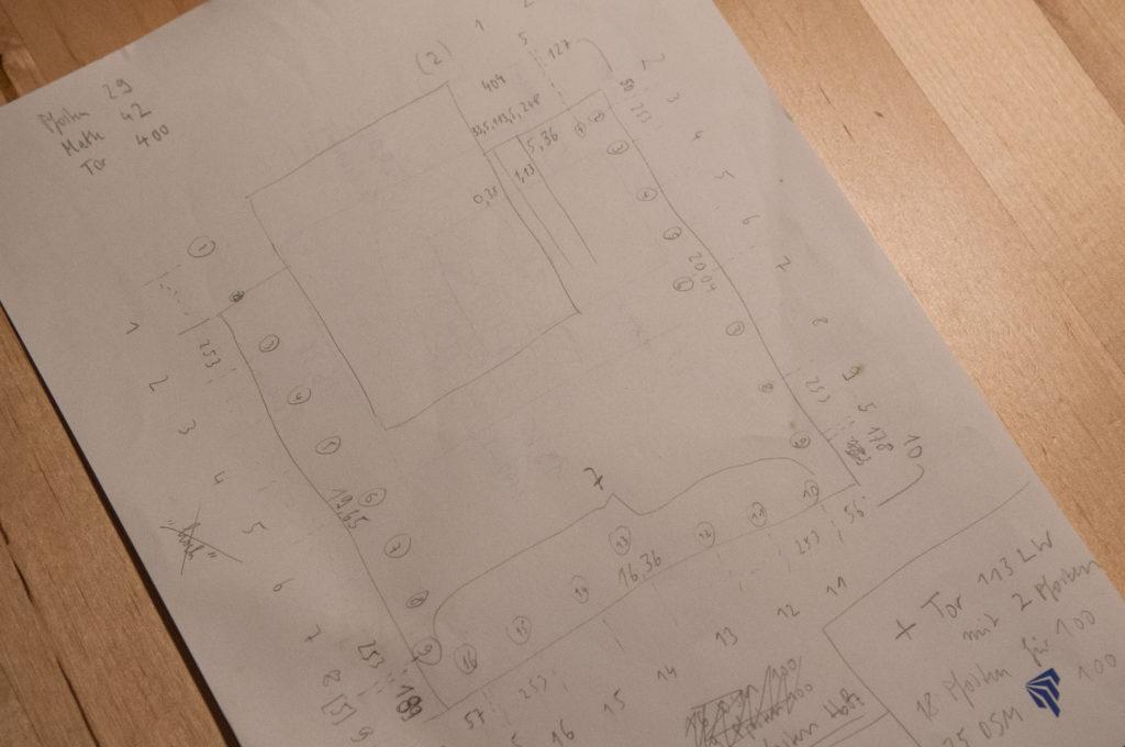 Planung mit Papier und Bleistift