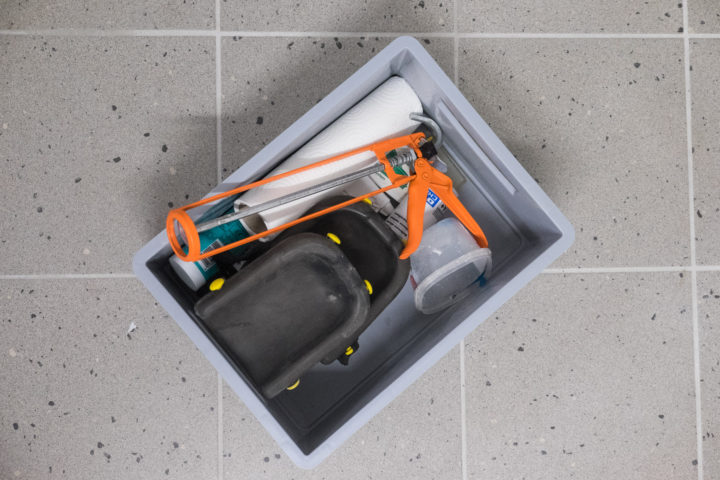 Werkzeug für die Silikonfugen